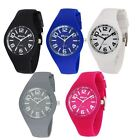 Ravel Unisex Large Dial Summer Days Silicon Watch R1801L