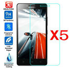 1-5X 9H Premium Tempered Glass Film Screen Protector Cover For Lenovo Cell Phone