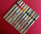 10pk BLOCK COLOUR PAINT PEN PERMANENT MARKERS CAR TYRE FABRIC METAL GLASS PENS