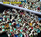 144p 4/5/6/8/10mm mixed color sew on facted Glass crystal Rhinestone jewels bead