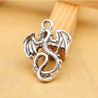 5-100pcs 35x27.5mm Antique Silver dragon DIY Tibetan Jewellery  Pendants Charms