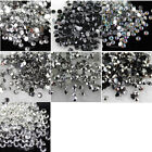 1000-10000 2-6mm 14 Facets Resin cystal Rhinestone Flatback Nail Art Decoration