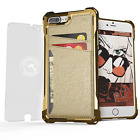 For iPhone 8 Plus / iPhone 7 Plus Case | Ghostek EXEC Leather Card Holder Wallet