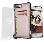 Ghostek Exec Modern Shockproof Credit Card Wallet Case Cover For iPhone 7 Plus <br/> 5-Colors | Screen Protector | Touch-ID | Warranty