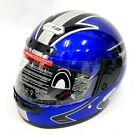 New Full Face Blue  Motorcycle Helmet Crash Scooter Motorbike Size S-L
