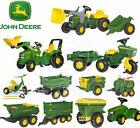 Rolly Toys John Deere Pedal Tractores Trailers Cargadora Cisterna Trike