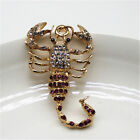 fashion gold plated crystal exquisite scorpion pendant car keyring Keychain 100