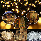 100 LED Twinkle Fairy Light String 8 Modes Tail Plug Christmas Party Warm White