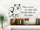 DOG Wall Decal Quote Dogs are not our whole life Home Design Decor Bedroom NS483