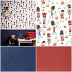 ARTHOUSE DRUMMER BOY SOLDIER & COORDINATING GLITTERATI BLUE RED WALLPAPER