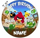 Personalised Angry Birds Edible Icing Topper 7.5in Precut Round Square Rectangle