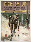 Vintage World War 1 Trenches Salvage Poster A3/A2/A1 Print