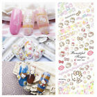 3 in 1 New Cartoon Style Nail Art Sticker Water Transfer Kitty Cats Decoration