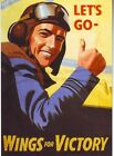 World War 2 Wings For Victory RAF Poster A3 / A2 Print