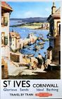 Vintage British Rail St Ives Cornwall Railway Poster A3/A2/A1 Print