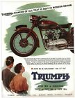 Vintage Triumph Motorcycle Advertisement Poster A3/A2/A1 Print £4.98 GBP on eBay