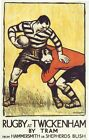 Vintage Twickenham Rugby Transport Poster A3 / A2 Print