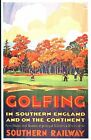 Vintage Southern Railways Golf in The South Railway Poster A3/A2 Print