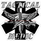 Tactical Medic Star of Life Reflective EMS EMT SWAT Paramedic Decal Sticker