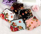 Fashion 5 Color Lady Women Girl Small Coin Purses Wallet flower Bag Beauty Gift