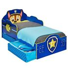 PAW PATROL CHASE TODDLER JUNIOR BED WITH UNDERBED STORAGE + MATTRESS OPTIONS