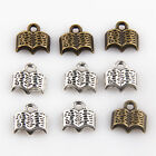 Free Shipping 20Pcs Pentants Tibetan Silver Antique Mini Books Charms 12mm