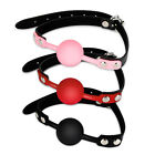 Fetish Erotic Mouth Gag Ball with Strap Bondage Restraint Sex Toy Pink/Red/Black