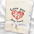 Personalised I Love You Towel Sets Name 100% Cotton Embroidered Hand Bath Face
