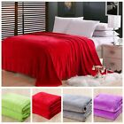 New Super Soft Luxurious Fleece Throw Blanket 3 Solid Colors Twin-size  Warm image