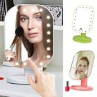 20 LED Lights Makeup Mirror Touch Screen Lighted Tabletop Cosmetic Mirror