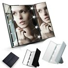 "10"" LED Lights Makeup Mirror Touch Screen Lighted Tabletop Cosmetic Mirror"
