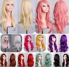 New Long Curly Wavy Blonde Hair Fashion Heat Resistant Women Cosplay Party Wigs