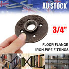 "3/4"" Black Malleable Floor Flange Iron Pipe Fittings Wall Mount Threaded"