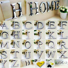 26 Letters Diy 3d Mirror Surface Wall Stickers Mural Art Living Room Home Decor