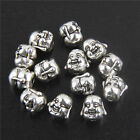 10/50Pcs Solid Happy Buddha Head Chamrs Spacer Loose Bead For Bracelet 11mm