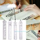 DIY Hollow Metal Drawing Template Stencil Bookmark Ruler For Kids Student Gift