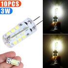 10PCS G4 Base SMD 3014 3W 20LED Warm/Cool White Light Bi-Pin Lamp Bulb DC12V New