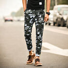 Men Camouflage Pants Workout Cargo Style Harem Trousers Sports Fitness Jogging