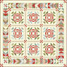 SNOWFALL Quilt Kit - Moda Fabric by Minick & Simpson + Quilt Pattern