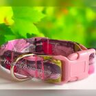 True Timber Sassy B Pink Camo Dog Collar Leash and Reflect Options Washable