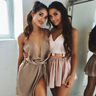New Womens Plain Sleeveless Ladies Loose Strappy Silk Camisole Vest Tank Tops