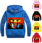 Kids Boy Girl NINJAGO Long Sleeve Cotton Sweatshirt Hoodie Children Clothing