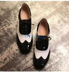 01 Hot Mens Womens Flat Heels Retro Brogues Wing tip Lace Up Party Shoes Oxfords