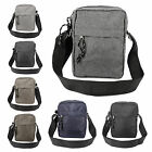 Womens Canvas Shoulder Bag Ladies Mens Cross Body Messenger Travel Satchel
