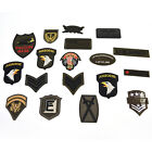 Military Motif Embroidered Patches for Clothing Sew Iron on Clothes Appliques LA