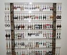 Earring Holder 66 - 126 pr Jewelry Organizer BIG Wall Hugger (Choice of Fabric)