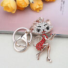 Grace Crown Lipstick Cat Lady Crystal HandBag Keyrings Keychains Car key Chains