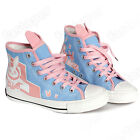 D.Va Game Overwatch Womens Lace-up Shoes Cosplay Comic Con DVA Canvas Shoes SDCC