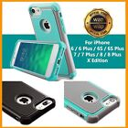 For iPhone 7 Crate Patterned Rubber Hard Hybrid Shockproof iPhone 6s 7 Plus Cover