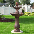 "46"" 2-Tier Pineapple Solar On Demand Water Fountain"